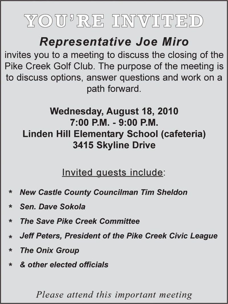 Pike Creek Golf Club Joe Miro