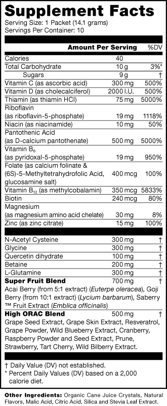 Product_lifeshotz_supplementfacts non sugar free